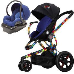 Quinny Britto Moodd Stroller Travel Systemw Mico AP Car Seat Blue