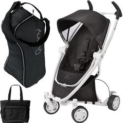 Quinny CV262BIK Zapp Xtra with Diaper Bag and Travel Bag- Black  Irony (white frame)