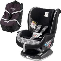 Peg Perego Primo Viaggio Convertible Car Seat -Pois Grey with Travel Bag