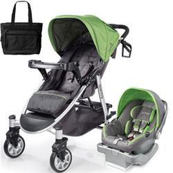 Summer Infant 21360KT Spectra Travel System with Prodigy® Infant Car Seat with Diaper Bag - Mod Green
