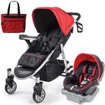 Summer Infant 21340KT Spectra Travel System with Prodigy® Infant Car Seat with Diaper Bag  - Jet Set Red
