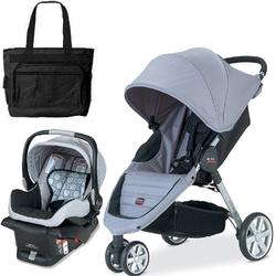 Britax S877200KT - B-Agile Travel Systems - Granite with Diaper Bag