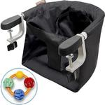 Mountain Buggy Pod Clip-on High Chair  with Click Clack Balls Teether -  Black