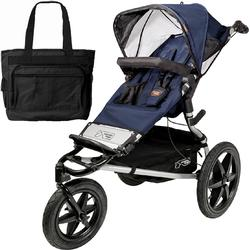 Mountain Buggy Terrain Jogging Stroller Navy with Diaper Bag