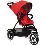 Phil & Teds  Navigator Buggy Stroller with Diaper Bag  - Cherry