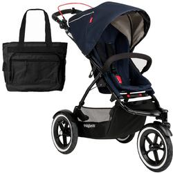 Phil & Teds  Navigator Buggy Stroller with Diaper Bag - Midnight Blue