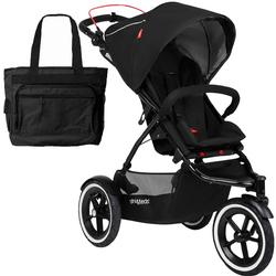 Phil & Teds Navigator Buggy Stroller  w Diaper Bag  - Black