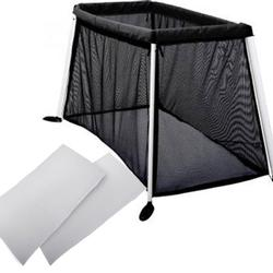 Phil & Teds TRV35200 Traveller V3 Cot/Crib - Black with Sheet Set