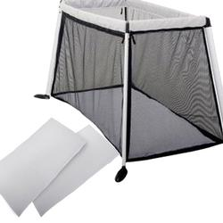 Phil & Teds TRV36300 Traveller V3 Cot/Crib - Silver with Sheet Set