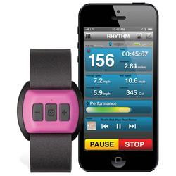 Scosche RHYTHM Bluetooth Armband Heart Rate Monitor for Women Pink
