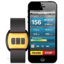Scosche RHYTHM Bluetooth Armband Heart Rate Monitor for Women Yellow