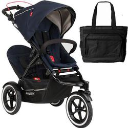 Phil & Teds Navigator Buggy Stroller with Doubles Kit and Diaper Bag  - Midnight Blue