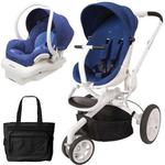 Quinny CV078BXQ Moodd Stroller Travel System with Diaper Bag and Car Seat - Blue Reliant