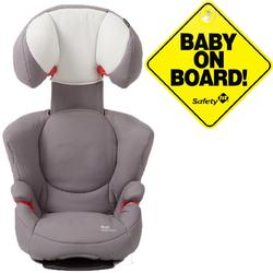 Maxi-Cosi BC090SLG Rodi AP AirProtect Booster Car Seats w Baby on Board Sign- Steel Gray