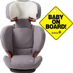 Maxi-Cosi BC077SLG Rodi fix Booster Seat w Baby on Board Sign -Steel Grey