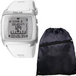 Polar FT60 90049592 Heart Rate Monitor Female White with FREE Cinch Bag