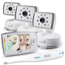 Summer Infant 28980 Dual View™ Digital Color Video Monitor with extra Camera and Thermometer
