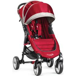 Baby Jogger BJ10436 - City Mini 4-Wheel Single Stroller - Crimson/Gray
