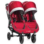 Baby Jogger BJ16436 - City Mini GT Double Stroller - Crimson/Gray