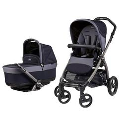 Peg Perego BOOKPOPINDI - Book Pop Up Stroller - Indigo-Navy Blue & Tweed Blue