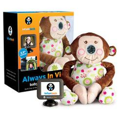 Infanttech 1000GM - Always in View Car Baby Monitor - Monkey