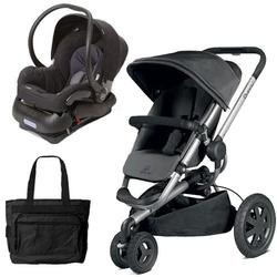 Quinny Buzz Xtra Travel System in Black with Diaper Bag
