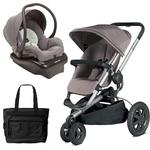 Quinny Buzz Xtra Travel System in Grey with Diaper Bag