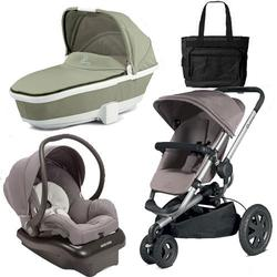 Quinny Buzz Xtra Travel System and  Bassinet in Grey with Diaper Bag