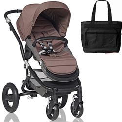 Britax Affinity Stroller with Diaper Bag in Brown and Black Frame