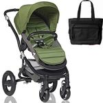 Britax Affinity Stroller with Diaper Bag in Black and Black Frame