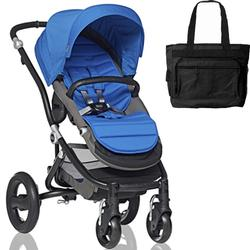 Britax Affinity Stroller with Diaper Bag in Blue and Black Frame