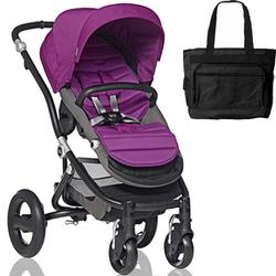 Britax Affinity Stroller with Diaper Bag in Berry and Black Frame