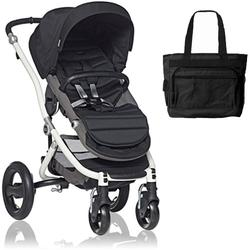 Britax Affinity Stroller with Diaper Bag in Black and White Frame