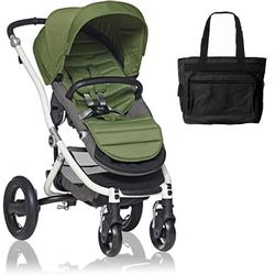 Britax Affinity Stroller with Diaper Bag in Green and White Frame