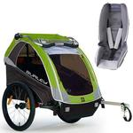 Burley - D-Lite Trailer with Baby Snuggler Kit - Green