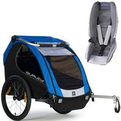 Burley - Encore Trailer with Baby Snuggler Kit - Blue
