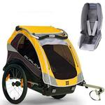 Burley Cub Trailer with Baby Snuggler Kit - Yellow