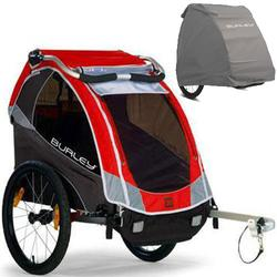 Burley Solo Trailer with Storage Cover - Red