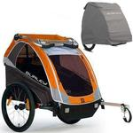 Burley - D-Lite Trailer with Storage Cover - Orange