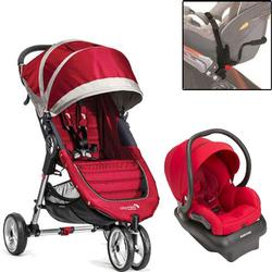 Baby Jogger - City Mini Mico Travel System- Crimson/Red/Gray