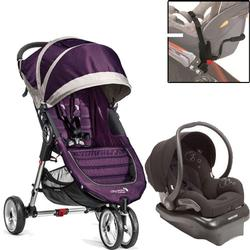 Baby Jogger - City Mini Mico Travel System - Purple/Gray/Black