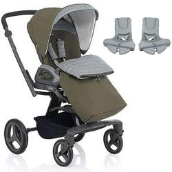 Inglesina - Quad Stroller with Car Seat Adapter - Forest