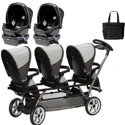Peg Perego - Triplette SW Travel System with 2 Seats and a Diaper Bag - Atmosphere