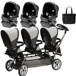 Peg Perego - Triplette SW Travel System with 3 Seats and a Diaper Bag - Atmosphere