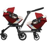 Orbit Baby - Double Helix Stroller with 2 G3 Car Seats - Ruby / Khaki