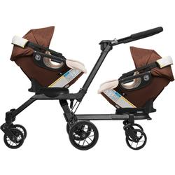Orbit Baby - Double Helix Stroller with 2 G3 Car Seats - Mocha / Khaki
