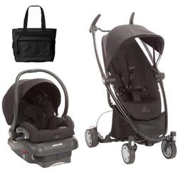 Quinny Zapp Xtra Mico AP Travel System with Diaper Bag - Black Frame