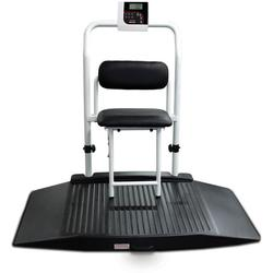 Rice Lake 350-10-4 Dual Ramp Wheelchair Platform Scale with Seat , 1000 lb x 0.2 lb