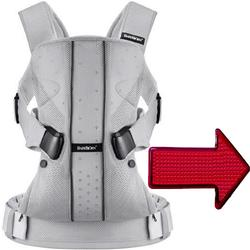 Baby Bjorn - Baby Carrier One with LED Light - Silver Mesh