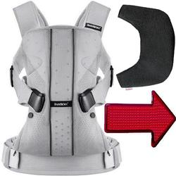 Baby Bjorn - Baby Carrier One with Bib and LED Light - Silver Mesh